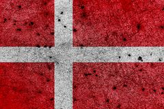 Σημαία της Δανίας με τις σωστές γεωμετρικές αναλογίες, specificatio διανυσματική απεικόνιση