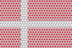 Σημαία της Δανίας στο μέταλλο Στοκ εικόνες με δικαίωμα ελεύθερης χρήσης