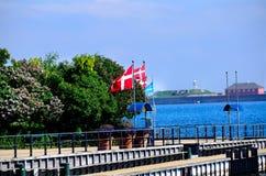 σημαία της Δανίας Στοκ φωτογραφίες με δικαίωμα ελεύθερης χρήσης