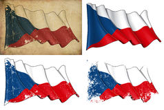 Σημαία της Δημοκρατίας της Τσεχίας Στοκ Εικόνα