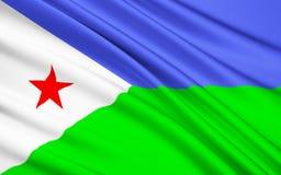 Σημαία της Δημοκρατίας του Τζιμπουτί στοκ φωτογραφία με δικαίωμα ελεύθερης χρήσης