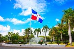 Σημαία της Δομινικανής Δημοκρατίας, Punta Cana Στοκ εικόνες με δικαίωμα ελεύθερης χρήσης