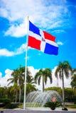Σημαία της Δομινικανής Δημοκρατίας, Punta Cana Στοκ Εικόνα
