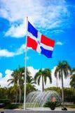 Σημαία της Δομινικανής Δημοκρατίας, Punta Cana Στοκ εικόνα με δικαίωμα ελεύθερης χρήσης