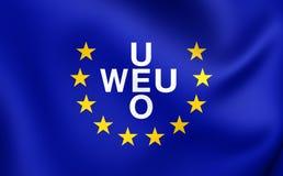 Σημαία της δυτικοευρωπαϊκής ένωσης 1954-2011 Στοκ φωτογραφία με δικαίωμα ελεύθερης χρήσης