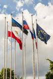 Σημαία της Ευρωπαϊκής Ένωσης και άλλες σημαίες χωρών. Στοκ φωτογραφίες με δικαίωμα ελεύθερης χρήσης