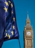 Σημαία της Ευρωπαϊκής Ένωσης μπροστά από Big Ben, ΕΕ Brexit Στοκ φωτογραφίες με δικαίωμα ελεύθερης χρήσης