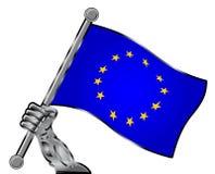 σημαία της Ευρώπης διανυσματική απεικόνιση