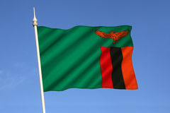 Σημαία της Ζάμπια - της Αφρικής Στοκ φωτογραφίες με δικαίωμα ελεύθερης χρήσης