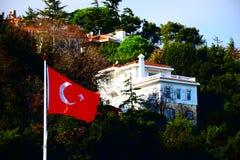 Σημαία της Ιστανμπούλ Bosphorus Τουρκία Στοκ φωτογραφία με δικαίωμα ελεύθερης χρήσης