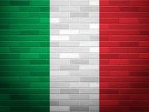 Σημαία της Ιταλίας τουβλότοιχος ελεύθερη απεικόνιση δικαιώματος