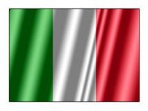 Σημαία της Ιταλίας Στοκ Φωτογραφία
