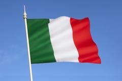 Σημαία της Ιταλίας - της Ευρώπης Στοκ Φωτογραφίες
