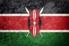 Σημαία της Κένυας Grunge Σημαία της Κένυας με τη σύσταση grunge Στοκ Φωτογραφία