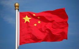 σημαία της Κίνας εθνική Στοκ εικόνα με δικαίωμα ελεύθερης χρήσης
