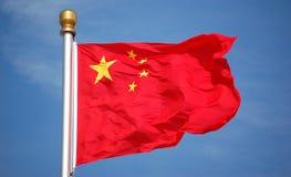 σημαία της Κίνας εθνική Στοκ Εικόνες