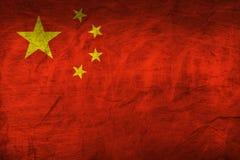 Σημαία της Κίνας σε χαρτί Στοκ Εικόνες