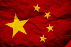 σημαία της Κίνας Στοκ Εικόνες