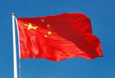 Σημαία της Κίνας Στοκ εικόνα με δικαίωμα ελεύθερης χρήσης