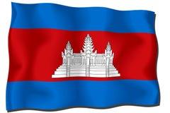 σημαία της Καμπότζης Στοκ Φωτογραφίες