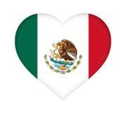 Σημαία της καρδιάς του Μεξικού Στοκ Φωτογραφία