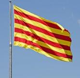 Σημαία της Καταλωνίας Στοκ Εικόνες