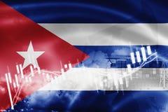 Σημαία της Κούβας, χρηματιστήριο, οικονομία ανταλλαγής και εμπόριο, παραγωγή πετρελαίου, σκάφος εμπορευματοκιβωτίων στην εξαγωγή  ελεύθερη απεικόνιση δικαιώματος