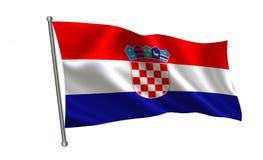 Σημαία της Κροατίας, σειρά Α των σημαιών ` του κόσμου ` Η χώρα - Κροατία Στοκ φωτογραφία με δικαίωμα ελεύθερης χρήσης