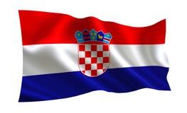Σημαία της Κροατίας, σειρά Α των σημαιών ` του κόσμου ` Η χώρα - Κροατία Στοκ Εικόνες