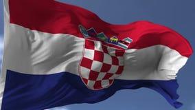σημαία της Κροατίας απεικόνιση αποθεμάτων
