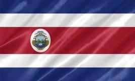 Σημαία της Κόστα Ρίκα στοκ εικόνα με δικαίωμα ελεύθερης χρήσης