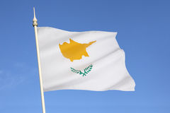 Σημαία της Κύπρου στοκ φωτογραφίες