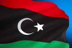 Σημαία της Λιβύης - της Βόρειας Αφρικής Στοκ φωτογραφίες με δικαίωμα ελεύθερης χρήσης