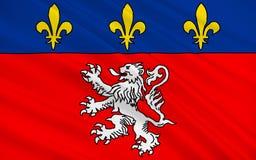 Σημαία της Λυών, Γαλλία διανυσματική απεικόνιση