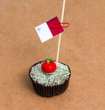 Σημαία της Μάλτας σε ένα cupcake Στοκ Φωτογραφίες