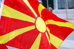 Σημαία της Μακεδονίας Στοκ Εικόνες