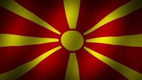Σημαία της Μακεδονίας απόθεμα βίντεο