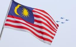 Σημαία της Μαλαισίας γνωστή επίσης ως Jalur Gemilang Στοκ εικόνες με δικαίωμα ελεύθερης χρήσης