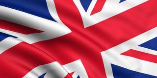σημαία της Μεγάλης Βρετανίας μεγάλη Στοκ Φωτογραφία