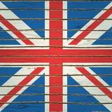 Σημαία της Μεγάλης Βρετανίας στην ξύλινη σύσταση Στοκ φωτογραφία με δικαίωμα ελεύθερης χρήσης