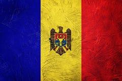 Σημαία της Μολδαβίας Grunge Σημαία της Μολδαβίας με τη σύσταση grunge Στοκ Φωτογραφία
