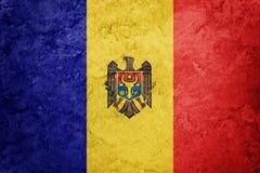 Σημαία της Μολδαβίας Grunge Σημαία της Μολδαβίας με τη σύσταση grunge Στοκ Εικόνα