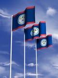 σημαία της Μπελίζ Στοκ Φωτογραφίες
