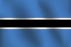 Σημαία της Μποτσουάνα - διανυσματική απεικόνιση Στοκ εικόνα με δικαίωμα ελεύθερης χρήσης