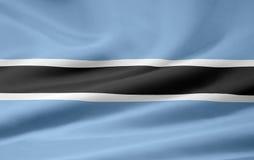 σημαία της Μποτσουάνα Στοκ Φωτογραφίες