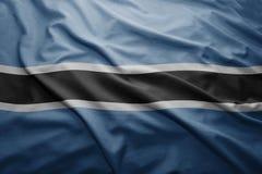 σημαία της Μποτσουάνα Στοκ φωτογραφία με δικαίωμα ελεύθερης χρήσης