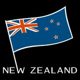 Σημαία της Νέας Ζηλανδίας επίσης corel σύρετε το διάνυσμα απεικόνισης Στοκ Εικόνες