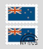 Σημαία της Νέας Ζηλανδίας στο γραμματόσημο Στοκ Εικόνες