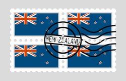 Σημαία της Νέας Ζηλανδίας στο γραμματόσημο Στοκ φωτογραφίες με δικαίωμα ελεύθερης χρήσης