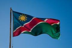 Σημαία της Ναμίμπια στοκ φωτογραφίες